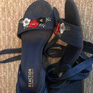 Kenneth Cole Denim Lace up Sandals
